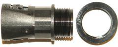 Plastnippel, rett, M16