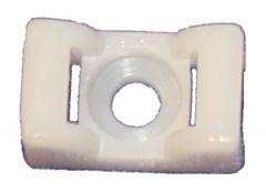 TC 142. Feste/monteringsplate for strips 23x14 mm  hvit/nylon