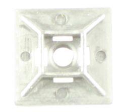 Feste/monteringsplate for strips 19,2 x 19,2 mm  hvit/nylon