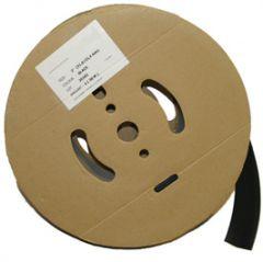 Krympestømpe, tynnvegget  på spole m/lim, sort, ø6,0-2,0mm