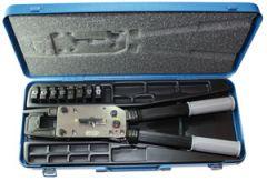 T 2600 KOMPLETT, Presstang, komplett med bakker for uisolert kabelsko/skjøt KRF/KSF Cu 10-95mm², c-klemmer 10-50mm² og koffert. (TB)