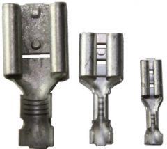 Uisolert kabelsko, Flatstifthylse, hunn  (2,8 x 0,8mm), 0,75-1,5mm²