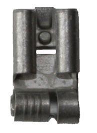 B 1507 FLB 8. Uisolert kabelsko, Flatstifthylse, hun  (6,3 x 0,8mm), i vinkel, kort 0,75-1,5mm²