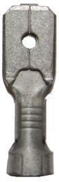 B 1507 H. Uisolert kabelsko, flatstift, han (6,3 x 0,8mm), 0,75-1,5mm²