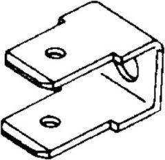 Uisolert kabelsko, Flatstiftkobling, 2x90º tilkobling (M4 festehull)