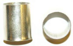 1,0-12 ET. Endehylse, uisolert 1,0mm², lengde 12mm