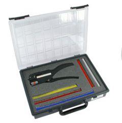AS STRIPAX PLUS. Assortimentsskrin med presstang og endehylser på bånd. 0,5-2,5mm²