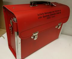 KA KOFFERT. Tom verktøyveske/ koffert, rød, for AUS verktøy